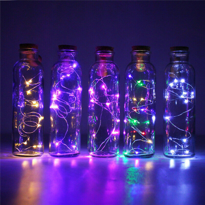 1m Solar Power Cork Shaped 10 Led Night Fairy String Light Wine Bottle Lamp Ebay