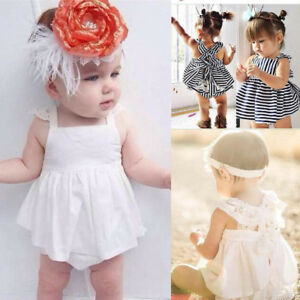 95a2e6d9953eb 2Pcs Infant Baby Girls Clothes Summer Sunsuit Outfit Summer Backless ...