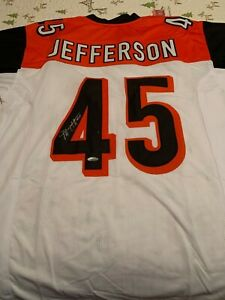 Details about Malik Jefferson custom signed Bengals jersey with COA