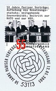 DéLicieux Rfa 2005: Traité De Paris! Nº 2459 Avec Bonner Ersttags-cachet Spécial! 1a! 1703-rstempel! 1a! 1703fr-fr Afficher Le Titre D'origine