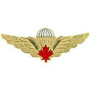 Foreign-Canadian-Military-Gold-amp-Red-Jump-Wing-Badge-Pin