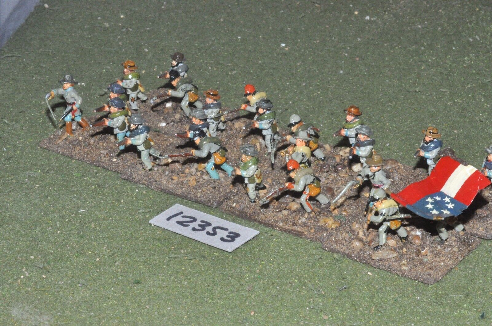 25mm ACW   confederate - american civil war infantry 24 figures - inf (12353)