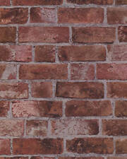 BRICK WALLPAPER Aged Red Brick with Texture HE1044