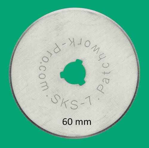 10x Ersatzklingen 60mm für Rollschneider Rollmesser Rotary Patchwork Quilt 615