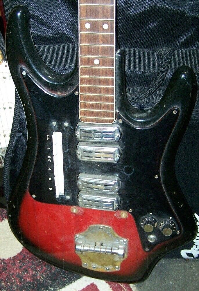 1960's Elli Sound 4 Pickup Electric Guitar Body Project Eko Crucianelli