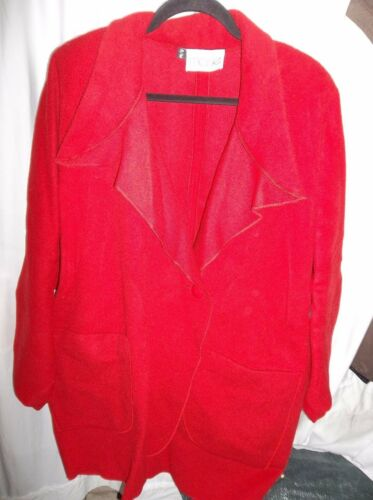 S Merle Coat Size Red Women's Nice m 100 Virkelig Uld wx0rqwtEd