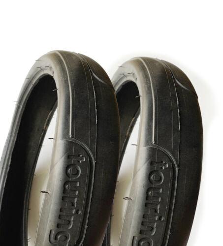 48x188 2x Pram Pneus 48 x 188-Touring Easy Rolling lisse plat bande de roulement