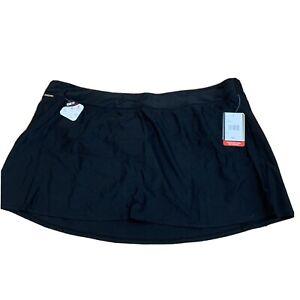 Zeroxposur-Womens-Swim-Suit-Skirt-Skort-Size-3X-Brand-New-XXXL-Black-D205