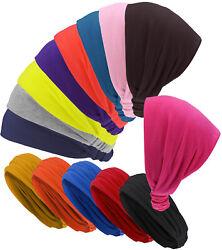 Haarband in 14 verschiedenen Unifarben Stirnband rockabilly Haarreif Bandana