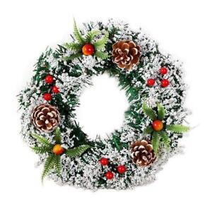 Christmas Hanging Porte Couronne Pommes De Pin Et Baies