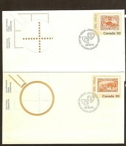 5-CANADA-FIRST-DAY-COVERS-1982-INCLUDING-BLUENOSE-MOUNTIE-amp-BEAVER