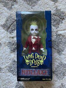 BEETLEJUICE-Red-Wedding-Tuxedo-Tim-Burton-Movie-Living-Dead-Dolls-RARE-Mezco