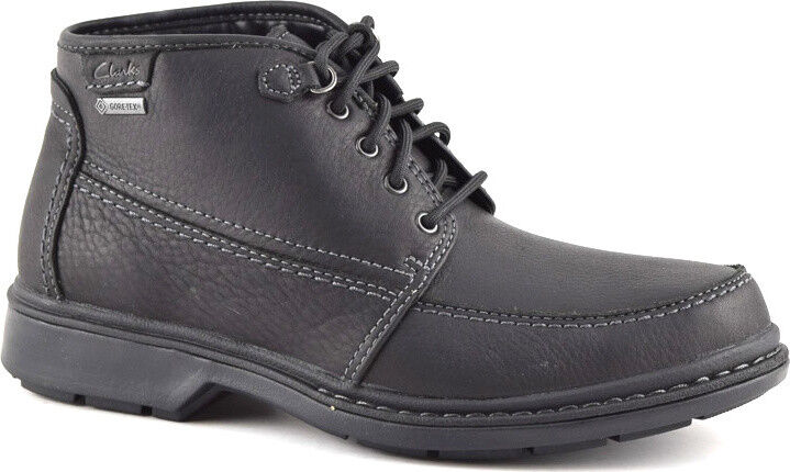 Clarks Mens  Rockie Top Warm Gtx  Black Lea  Active Air  UK 13   US 14 G