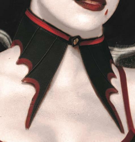 Vampire Red and Black Bat Collar Vampiress Choker