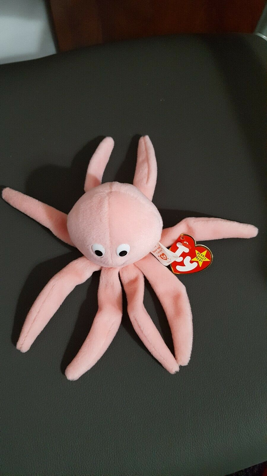Beanie Baby - INKY- Pink SMILEY Octopus- 1993