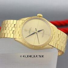 Seltene Rolex Oyster Perpetual 18K Gelbgold Herrenuhr Ref 1009