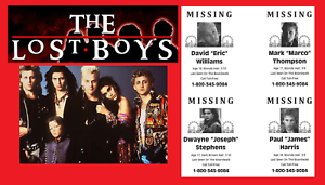 The Lost Boys 1987 Missing Poster David Williams Kiefer Sutherland Flyer