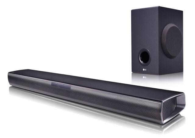 LG SJ2 2.1 Soundbar 160 Watt kabelloser Subwoofer Bluetooth Fernbedienung