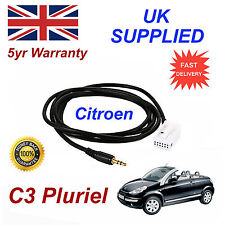 Citroen C3 Pluriel AUX 3.5mm Input Audio cable High Quality Sound MY 05-09