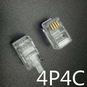 Lot 1- 50 Rj9 Connecteur Telephonique 4pins 4p4c Generique 4/4 Male Transparent W3mmt9xo-07165724-588877508