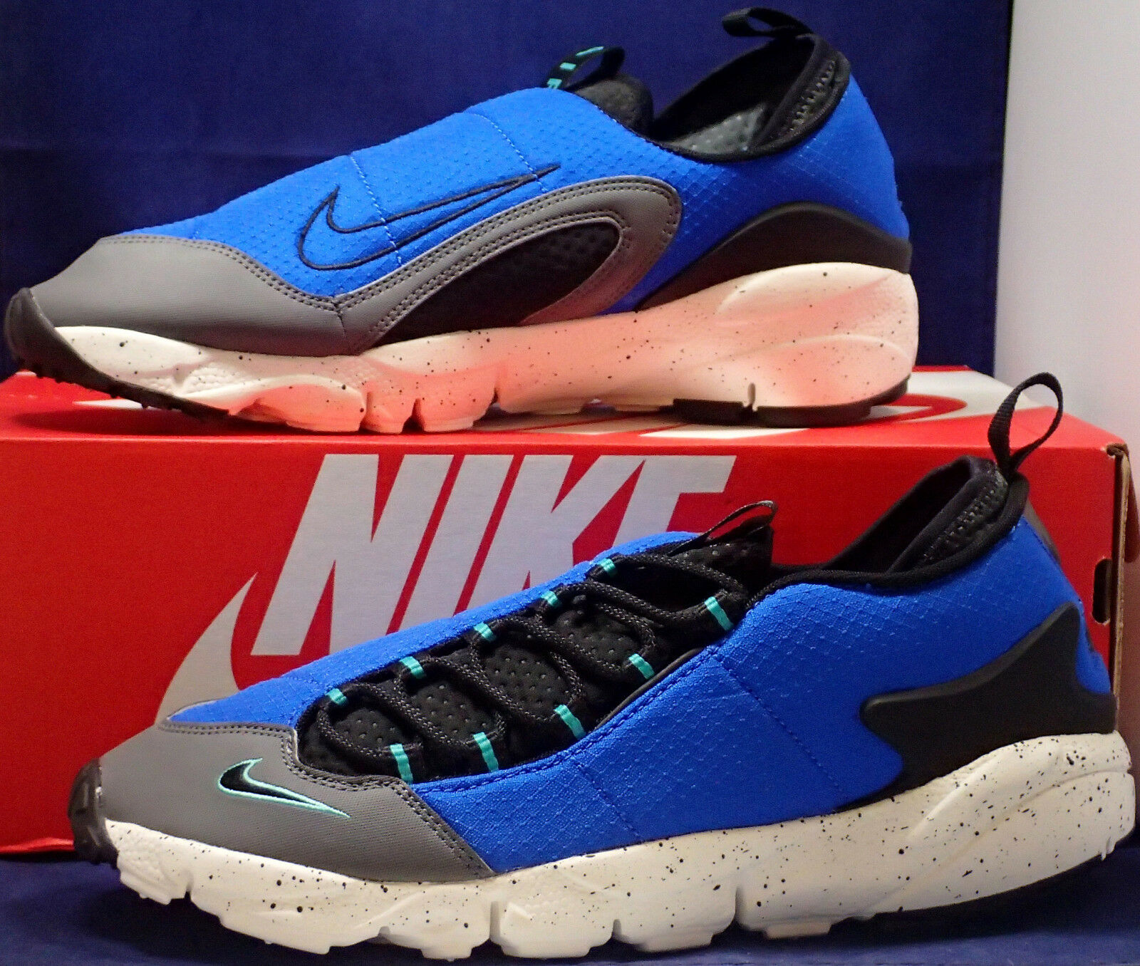 Nike Air Footscape NM Hyper Cobalt Blue Black Woven Price reduction Cheap and beautiful fashion