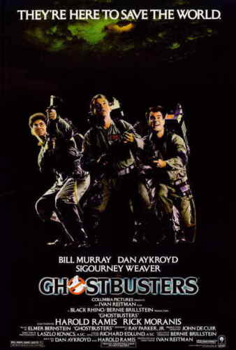 Ghostbusters (1984) Bill Murray Dan Aykroyd Harold Ramis Movie Poster 27x40 NEW