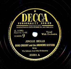 BING CROSBY / ANDREWS SISTERS on 1943 Decca 23281 - Jingle Bells / Santa Claus..