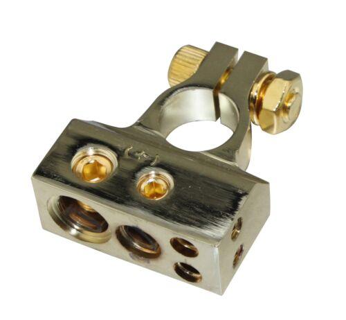 A4A Gold Plated 1X2GA 1X4GA 2X8GA Battery Terminal Car battery post SKBT-051G+