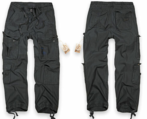 BRANDIT Herren Cargo Hose Mens Pure Vintage Trousers Cargohose Army Neu Langhose