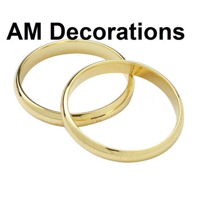 Culpitt Wedding Rings Cake Toppers Set of 2 Silver or Gold Colour ...