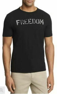 John-Varvatos-Star-USA-Men-039-s-Sz-S-Freedom-Graphic-Crew-T-Shirt-Black