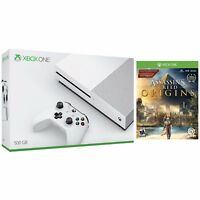 Microsoft Xbox One S 500GB Console (White) + Assassin's Creed Origins for Xbox One