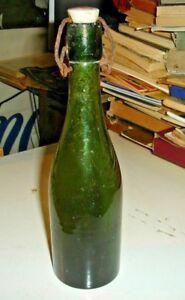 Cerveza-Cervisia-Botella-Antigua-Con-Tapa-Ceramica-Anos-039-30-Todo-Original