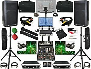Complete-Professional-karaoke-dj-system-dj-laser-lights-Peavey-Wireless-mics