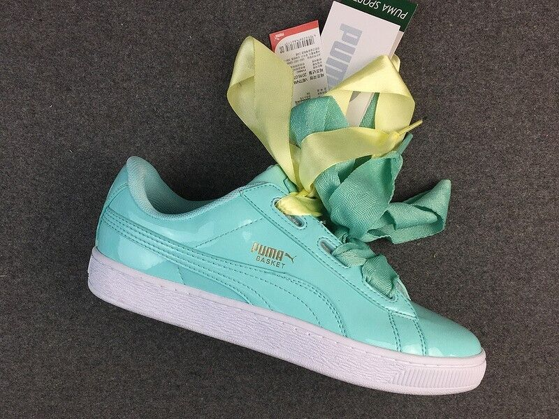PUMA BASKET HEART PATENT WOMENS UK SIZE 6 364817-04