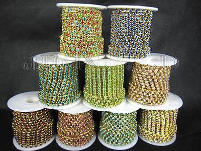 SS6/8/10/12/14/16 colorful rhinestone trim chain KPT