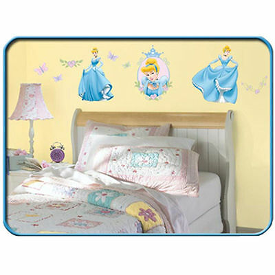 Wall Sticker 30 Pc Disney Princess Cinderella Children Room Decor New Ebay