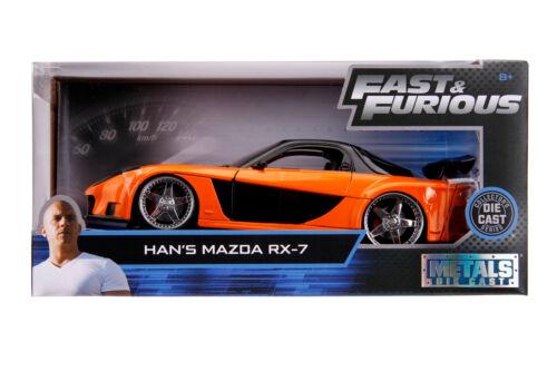 Jada Fast /& Furious Mazda RX-7 1:24 Modellauto