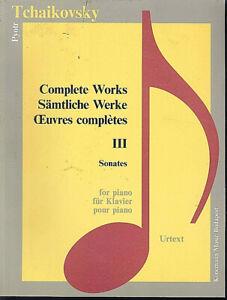 Tschaikovsky-Saemtliche-Werke-III-Sonates-Urtext