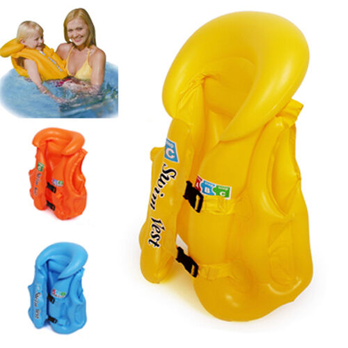 3-Color-Baby-Float-Swimming-Aid-Life-Jacket-Inflatable-Swim-Beach-Vest-3-6-Years