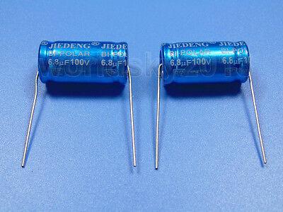 2pcs For JIEDENG 100V 33uF Speaker Divider Crossover Non-Polarity Capacitor