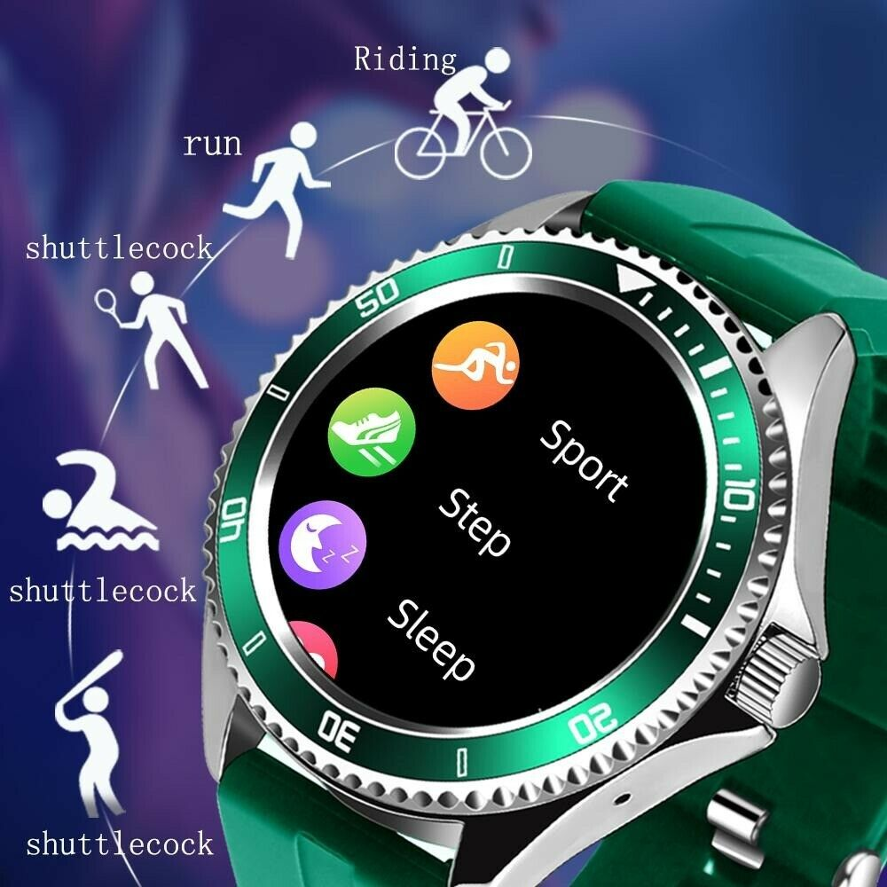 New Men Smart watch Fitness Tracker Heart Rate Monitor Bluetooth For Android iOS