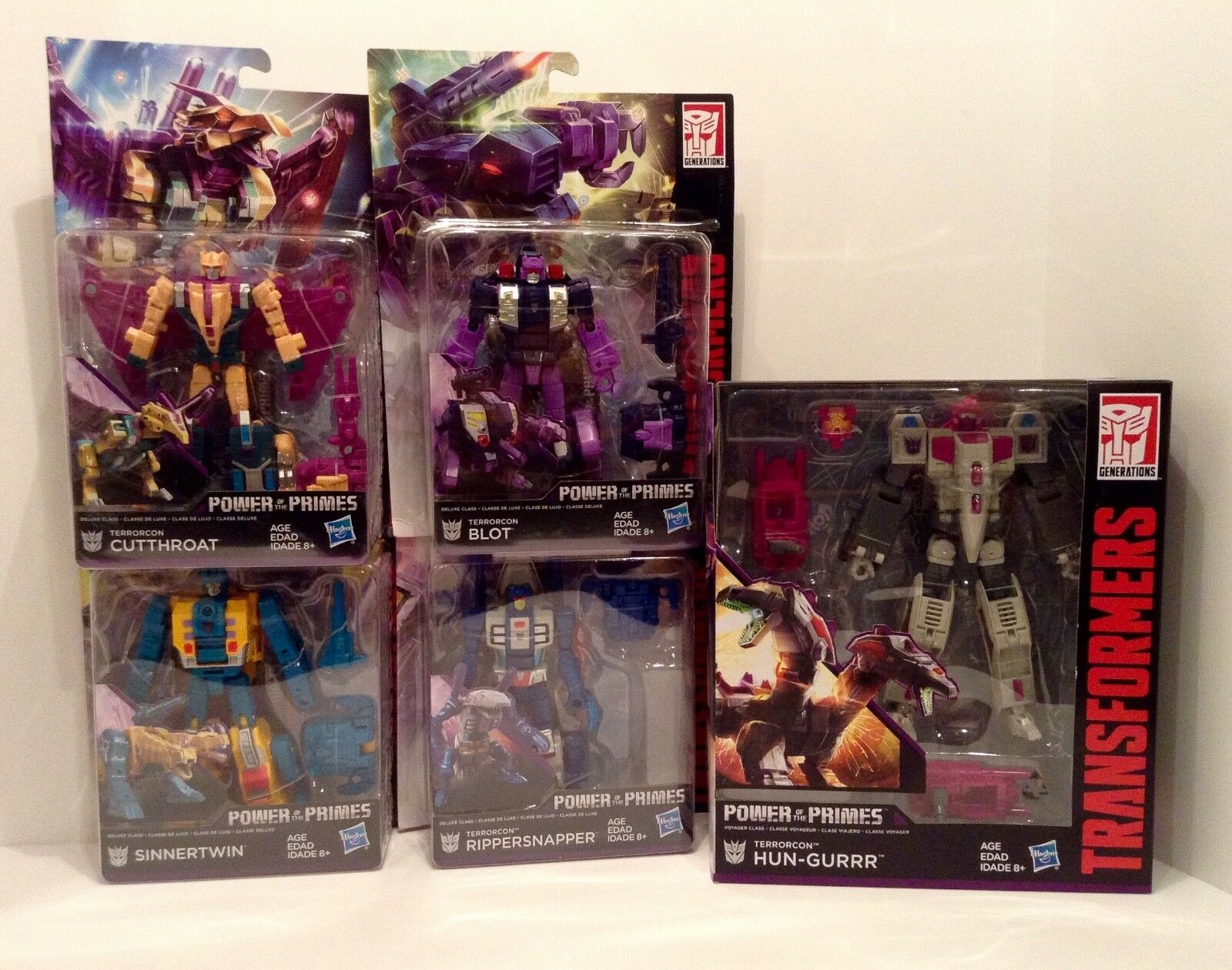 Transformers POWER of the PRIMES - Abominus - TERRORCONS  Set of 5 - NEW MIB