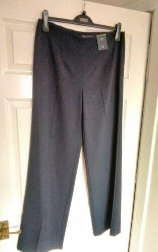 NWTG M/&S Taglia 12 Donna Pantaloni Mid Rise Wide Navy Scuro Lungo CN175//74A