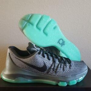 a75d23707b04 New Nike KD Kevin Durant 8 Hunt s Hill Night Grey Green Glow ...