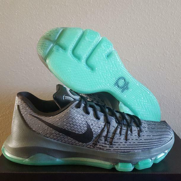 finest selection 413e9 cfcbb New Nike KD Kevin Durant 8 Hunt's Hill Night Grey Green Glow Basketball  Shoes 11