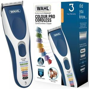 Wahl Colour Pro Cordless Rechargeable & Mains Powered Hair Clipper Shaver Kit 5037127021798
