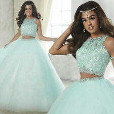 Hot Selling Two Piece Ball Quinceanera Dresses Sweet 15 Years Prom Party Gown