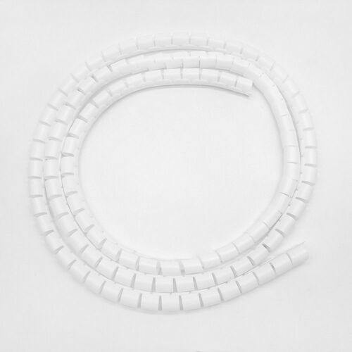 Cable Hide Wrap Tube 8//28mm Organizer /& Management Wire Spiral Flexible Cord Lot