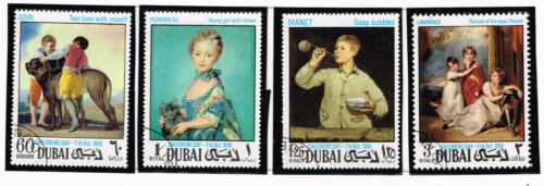 Dubai Art Famous Paintings Chidren stamps 1968